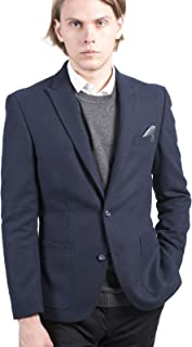 SAWYERS + HENDRICKS Wool Blend Slim Fit Blazer in Blue 38 to 50