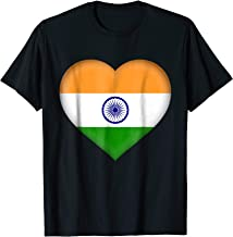 I Love India T-Shirt | Indian Flag Heart Outfit