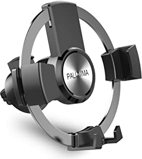 Palumma Air Vent Cell Phone Mount, Hands-Free Auto Lock Gravity Car Phone Holder Cradle Compatible with iPhone Xs Max XR X 8 7 6 Plus, Samsung Galaxy Note 9 S9 Plus S8 S7, Motorola, LG, Sony, HTC