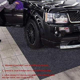 Delooant Parking Garage and Shop Floor Mats Under Cars (Garage Mats:7.56Feet x 18.1Feet)