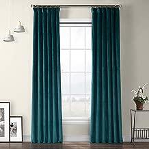 VPYC-179921-84 Heritage Plush Velvet Curtain, 50 x 84, Deep Sea Teal