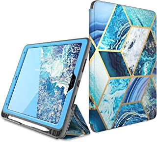 """i-Blason Cosmo Case for iPad Air 3 Case 10.5"""" 2019 (3rd Gen) / iPad Pro 10.5 Case 2017, [Built-in Screen Protector] Trifold Stand Protective Case Cover with Pencil Holder and Auto Sleep/Wake, Blue"""