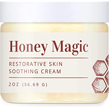 Honey Magic Restorative Skin Soothing Cream - Gentle, Nourishing, and Cooling for People with Eczema Psoriasis and Rosacea