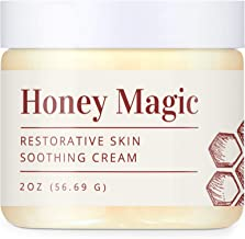 Honey Magic Restorative Skin Soothing Cream - Gentle, Nourishing, and Cooling for Eczema Psoriasis and Rosacea