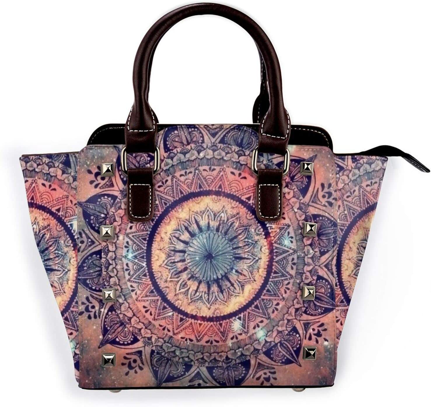 Denver Our shop OFFers the best service Mall Tote Bag Vintage Ethnic Flower Shoulder 3D Printed Non-Fadin