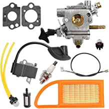 Notos Carburetor + Air Filter + 4282 400 1305 Ignition Coil + Air Filter Tune Up Kit Fit for Stihl BR500 BR550 Backpack Blower # C1Q-S183 C1Q-S184