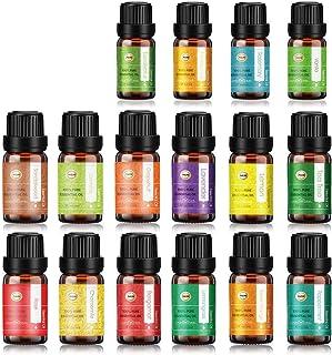 ANEAR Essential Oil Set 12 x 10 mL 4 X 5ml, Tea Tree, Lavender, Lemongrass, Orange, Grapefruit, Chamomile, Sandalwood, Ros...
