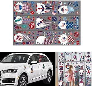 XIWUYA 9 folhas de adesivos de aderência patriótica decalque bandeira coração estrela adesivos sem cola para adesivos de j...