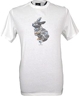 Paul Smith Men`s Crew Neck Rabbit T-Shirt - Ecru