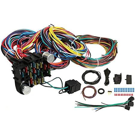 Amazon.com: VOWAGH Universal Extra Long Wires 21 Circuit Wiring Harness  Hotrod Fit for GM Chevy: Automotive | Chevrolet Wiring Harness Routpng |  | Amazon.com
