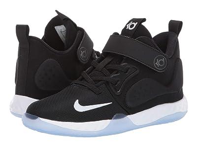 Nike Kids KD Trey 5 VII (Little Kid) (Black/White/Cool Grey/Volt) Kids Shoes