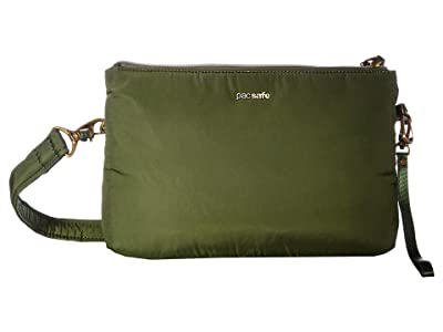 Pacsafe Stylesafe Anti-Theft Double Zip Crossbody (Kombu Green) Handbags