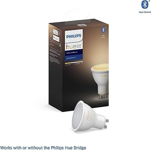 Philips Hue White Ambiance LED Smart Spot Light GU10 (Latest Model, Compatible with Bluetooth, Amazon Alexa, Apple H...