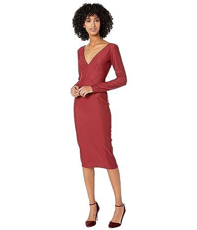 ZAC Zac Posen Andreanne Dress (Garnet) Women