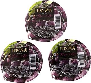 【九州旬食館】 日本の果実 お試しセット 福岡県産 ブルーベリー ゼリー 155g× 3個 詰め合わせ セット