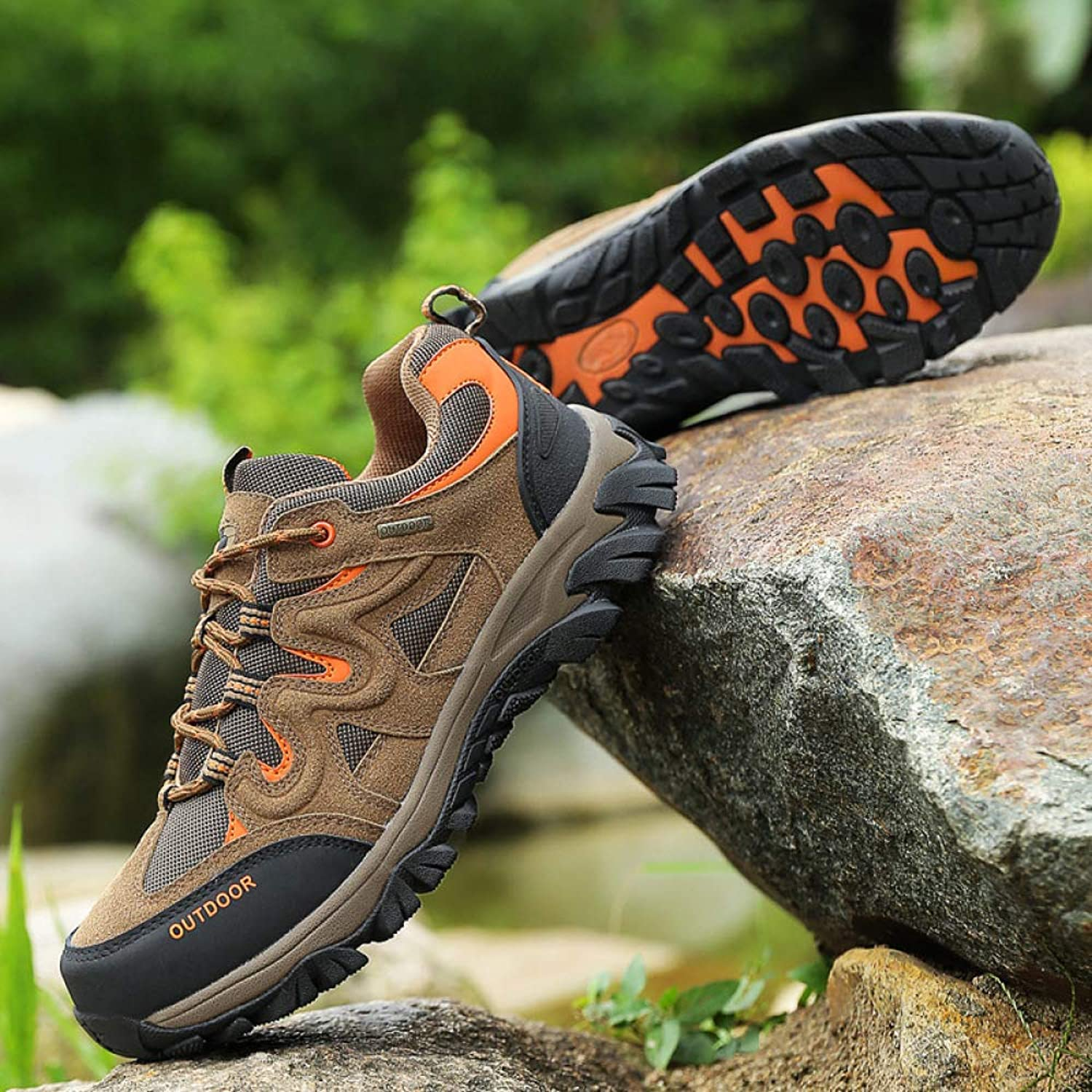 shoes Leather Outdoor Hiking, Large Size Sneakers, Casual Walking
