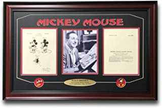 WALT DISNEY/MICKEY MOUSE PATENT DRAWING FRAMED PHOTO COLLAGE #D/250 PINS WORLD