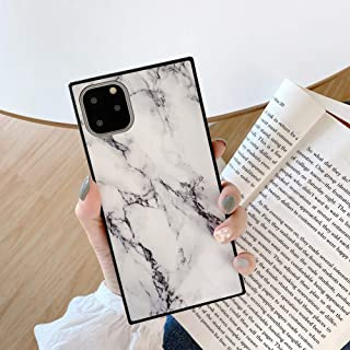 YonMeet Square Marble Case for iPhone Xs Max Black White Glossy Cover Slim Soft Flexible TPU Shockproof Trunk Back Shell (iPhone Xs Max, White)