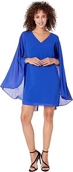 V-Neck Cape Back Float Dress