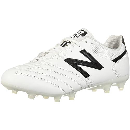 605ae46fc285f New Balance Men's 442 Team FG V1 Classic Soccer Shoe, White/Black, 11.5