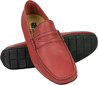 Zerimar Chaussures Bateau en Cuir pour Hommes | Chaussures Nautiques Homme | Mocassins Homme | Grandes Tailles 46-50