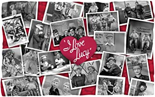 I Love Lucy Time After Time Fleece Blanket Throw White 36x58