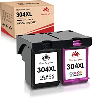 TonerKingdom 304XL Remanufacturado HP Cartuchos de Tinta, Negro y Tricolor, Compatible para HP Envy 5010 5020 5030 5032 De...