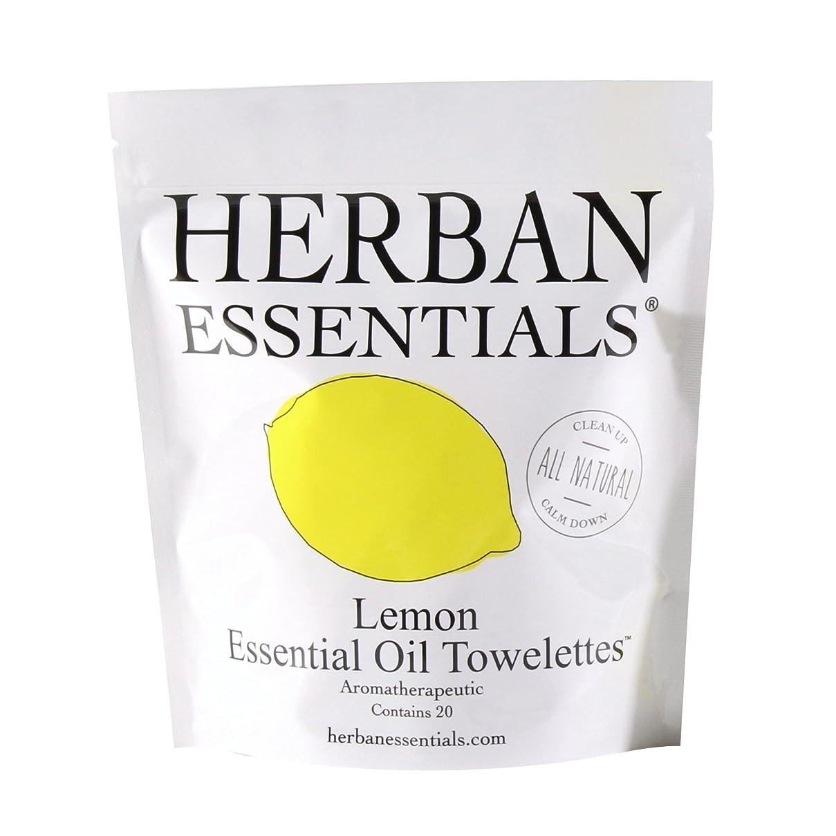 マーキング経済的却下するハーバンエッセンシャルズ アロマタオル レモン (個包装20枚入り)