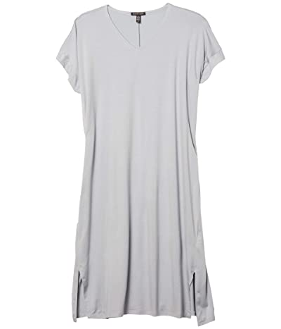 Eileen Fisher V-Neck Short Sleeve Dress (Dawn) Women