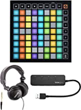 Novation Launchpad Mini MK3 Grid Controller for Ableton Live Bundle with Headphones and..