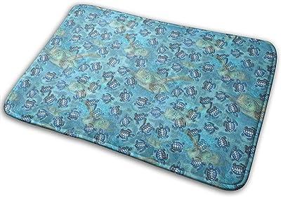 Sea Turtle Polka Dot Carpet Non-Slip Welcome Front Doormat Entryway Carpet Washable Outdoor Indoor Mat Room Rug 15.7 X 23.6 inch