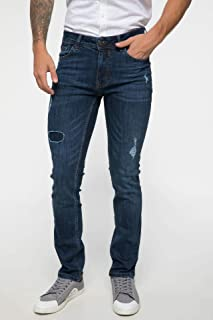 DeFacto Pedro Slim Fit Yama Detaylı Denim Pantolon