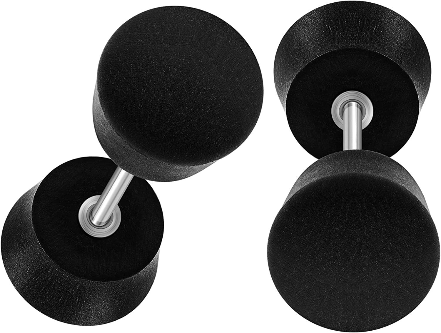 BIG GAUGES Pair of 316L Surgical Steel 16g Gauge 1.2mm Black Areng Wood Size 8mm Fake Plugs Piercing Jewelry Cheater Earring Lobe BG0823