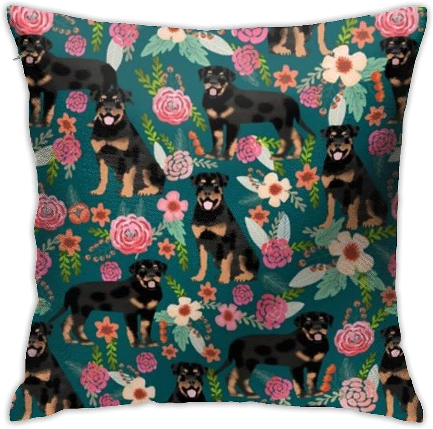 Rottweiler Floral Dog 18 X Inches Bed Design Couch and shopping Cute Max 43% OFF P