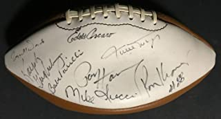 Willie Mays Paul Hornung Autographed Signed Wilson Football 8 Autograph HOF - Certified Authentic