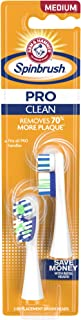 Arm & Hammer Spinbrush PRO Clean Replacement Brush Heads (Refill), Medium, 2 Count