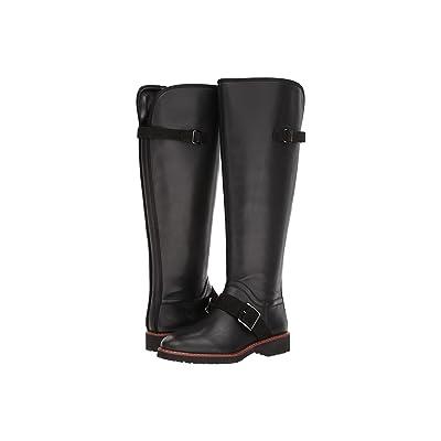 Franco Sarto Cutler Wide Calf (Black WC Leather) Women