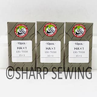 30 ~ Organ Flat Shank 15X1 HAX1130/705 Home Sewing Machine Regular Sharp Needles fits Brother Singer (90/14)