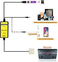 Auxillary Adapter,USB AUX Car MP3 Player Radio Interface AUX in Adapte 3.5mm for Mazda 3 5 6 Mazda 323 B-Series Pickup CX-7 MPV MX-5 M3 RX-8 RX8 Protege Tribute