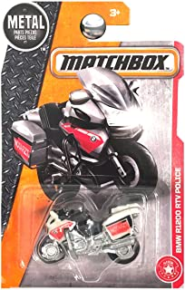 Matchbox 2017 MBX Heroic Rescue BMW Model R1200 RTV Police (Motorcycle) 78/125, White