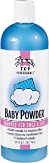 Top Performance Baby Powder Pet Shampoo in 17 Oz. Size for Bathing Puppies and Kittens – Helps Pets with Skin Conditions