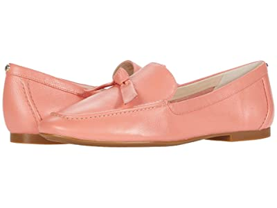 Cole Haan Caddie Bow Loafer (Burnt Coral Soft Grainy Leather/Knot Bow/Natural Stitch) Women