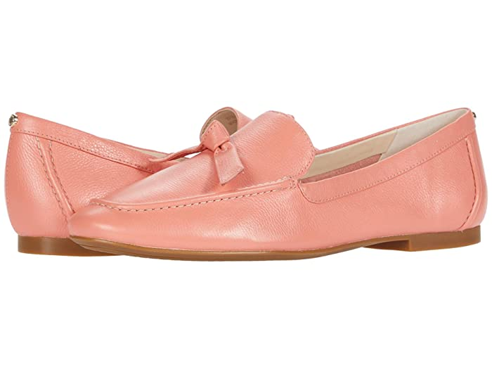 Cole Haan  Caddie Bow Loafer (Burnt Coral Soft Grainy Leather/Knot BowithNatural Stitch) Womens Shoes