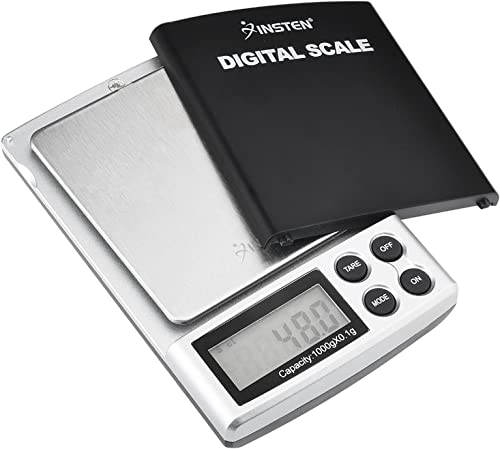 Insten Portable Digital Scale for Kitchen Jewelry Refined Accuracy 0.1g / 0.005oz to 1000g / 35.3 oz with Backlit Dis...