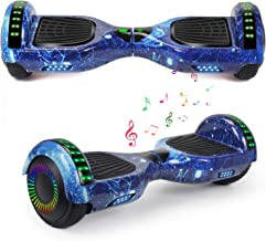 "YHR 6.5"" Hoverboard LED Lights with Bluetooth Speaker and Smart Self Balancing Hoverboard and Two-Flashing Wheel with UL22..."