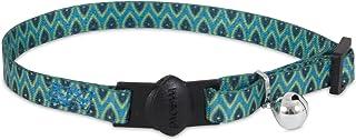 "Petmate Aspen Pet Breakaway Fashion Collar, 3/8"" x 8-12"", Sub Geo Blue"