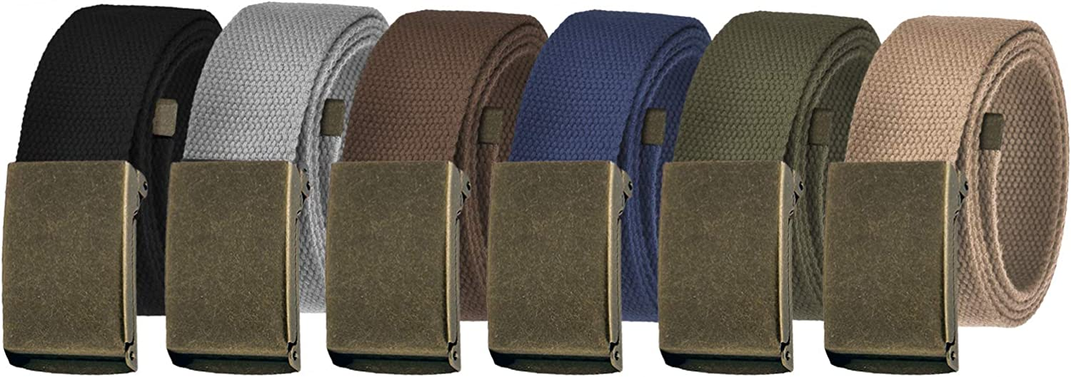 Men's Cut unisex to Fit Fort Worth Mall Golf Belt with Casual Canvas Breathable Outdoor