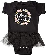 inktastic NICU Graduate Girls Floral Wreath Infant Tutu Bodysuit