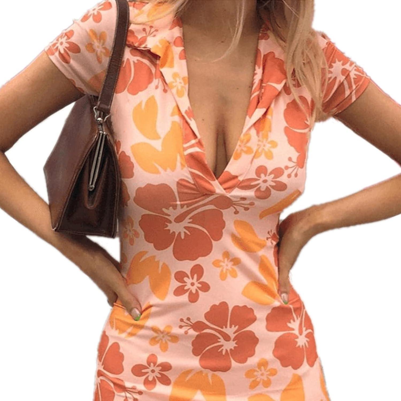 Dress Summer Woman Y2K Vintage Tie Dye Heart Print Cami Bikini Dresses E-Girls 90S Slim Fit Skirts