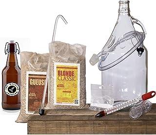 THE BELGIAN BREWERY - Kit Brassage de Bière Maison 5L Blonde et GUEUSE - 15 Bouteilles - Craft Beer Belge - Idée Cadeau